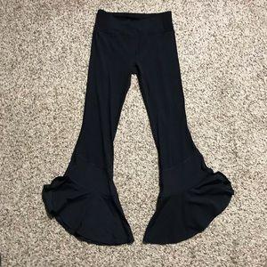 NWOT free people flare yoga pants black xs
